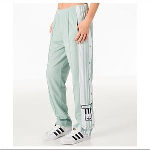 Adidas breakaway mint Track  pants XL Nwot